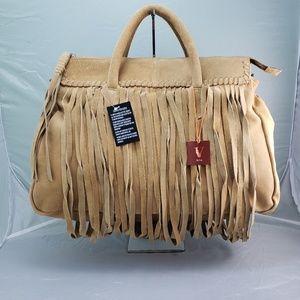 🆕️ V by Eva Genuine Fringe Suede Leather Handbag
